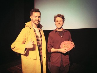 George MacKay of FOR THOSE IN PERIL and Jack Toye of Arts Picturehouse, Cambridge